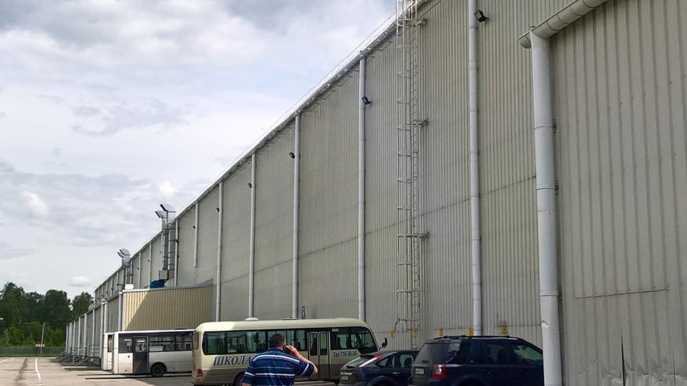 Водосточная оцинкованная системы для ремонта складских помещений