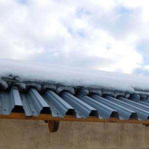 Профнастил оцинкованный Н75 на крыше