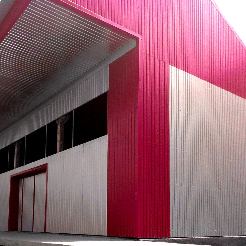 Стены здания из профнастила оцинкованного С8