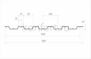Схема профнастила HC-35