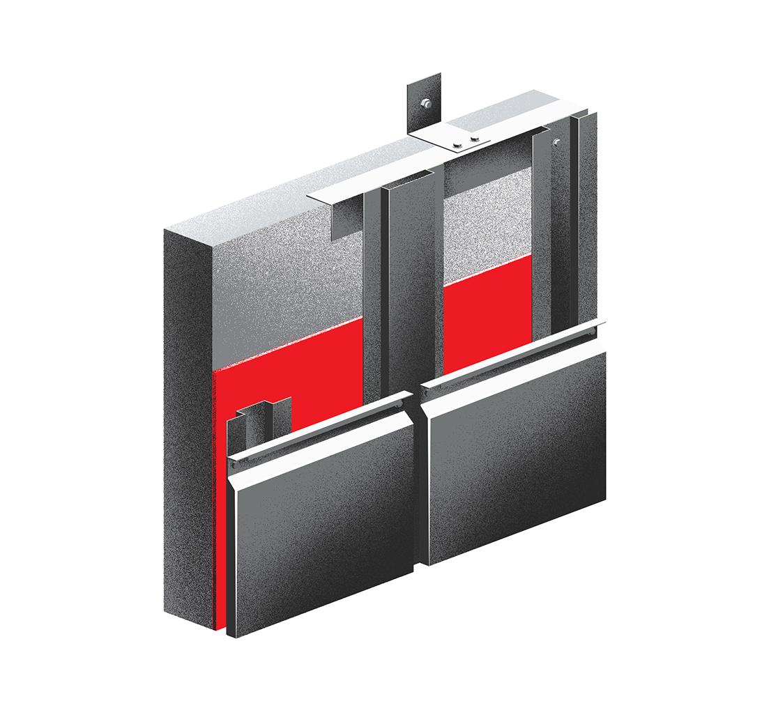 Металлическая подсистема для фасада