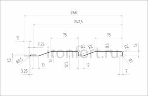 Схема сайдинга Корабельная доска