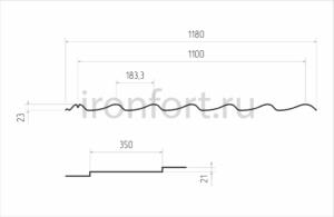 Схема металлочерепицы Монтеррей Классик