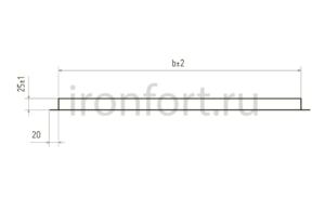 Схема фасадной кассеты открытого крепления