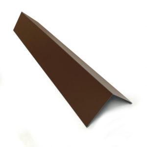 Конек металлический прямой окрашенный (шоколадно-коричневый, RAL 8017)