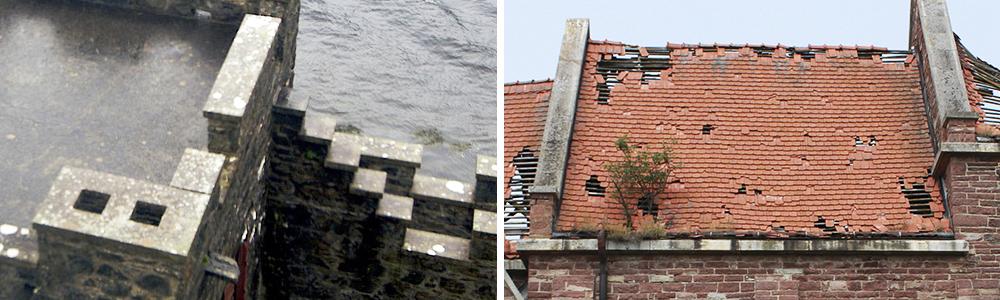 Парапет на исторических строениях