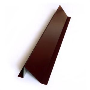 Снегозадержатель металлический уголковый окрашенный, RAL 8017