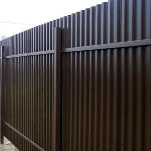Забор из профлиста НС44