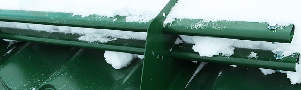 Снегозадержатель с овальной трубой