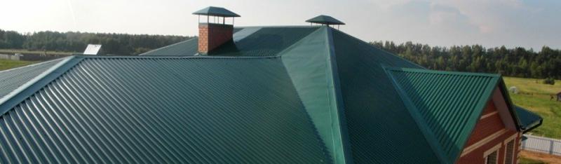 Профнастил оцинкованный на крыше