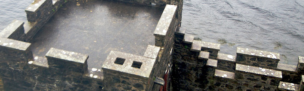 Парапет на старинном замке