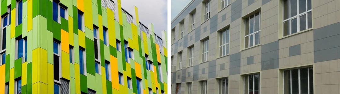 Фасады из металлокассет и керамогранита