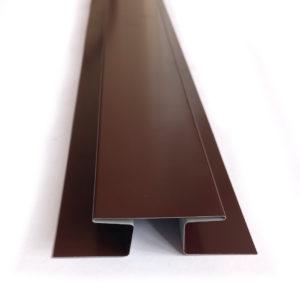 Соединительная н-образная оцинкованная планка окрашенная шоколадно-коричневая