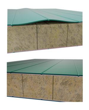 Возможное место повреждения металлического сэндвича для крыши